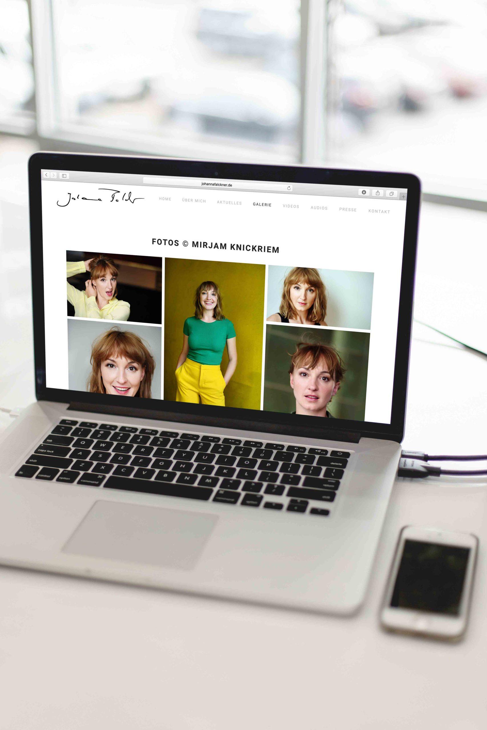 Johanna Falckner Galerie-Laptop